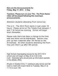 Here are the Announcements for Friday, May 17, 2013 C Day ...
