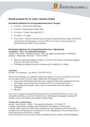 Detaljerat program - Katrineholms kommun