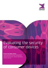 Evaluating the security of consumer devices - Conax