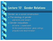 Lecture 12 Gender Relations