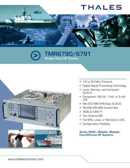 TMR6790/6791 Single/Dual HF Exciter - Thales Communications