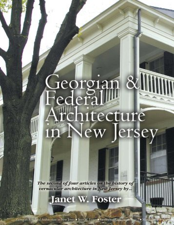 Georgian & Federal Architecture in New Jersey - Garden State Legacy