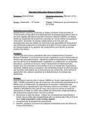 Aboriginal Education Research Network - Pratiques exemplaires en ...