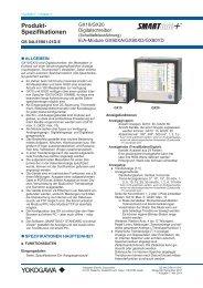 Produktspezifikation SMARTDAC+ GX Serie - Yokogawa
