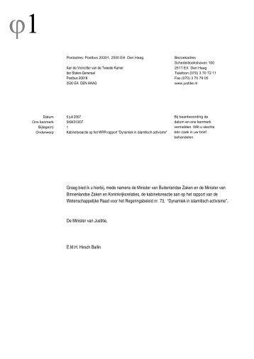 Download de volledige reactie - Wetenschappelijke Raad voor het ...