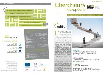 N°6 - Service Europe et recherche - L'UNAM