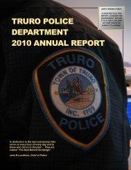 TRURO POLICE DEPARTMENT 2010 ANNUAL REPORT