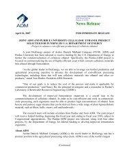 News Release - ADM
