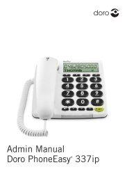 Admin Manual Doro PhoneEasy® 337ip - Produktinfo.conrad.com