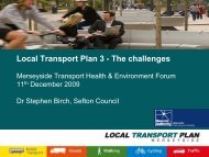 Local Transport Plan 3 - The challenges - the TravelWise ...