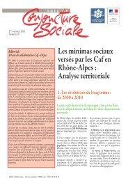 Note de conjoncture sociale n°20 - (DRJSCS) Rhône-Alpes