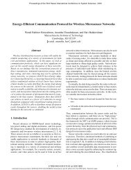 Energy-efficient communication protocol for wireless microsensor ...