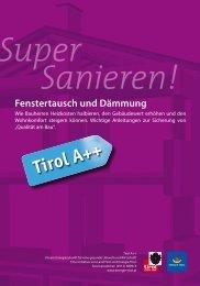 Super Sanieren! - Fenstertausch und Dämmung - Energie Tirol