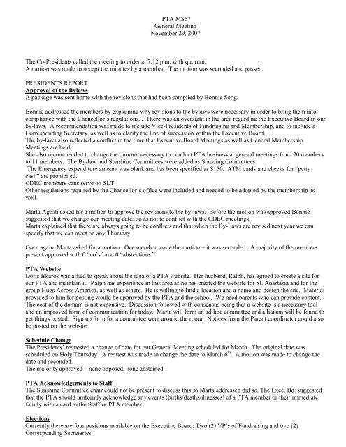 Download PDF file - Louis Pasteur MS 67 PTA