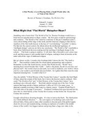 """Flat World"" Metaphor Mean? - UCLA International Institute"