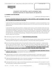 consent for central line placement and administration - University of ...