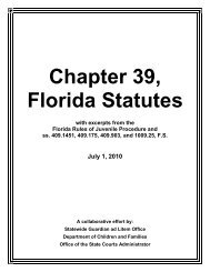 Chapter 39, - Florida Department of Children and Families