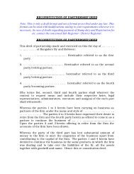 Reconstitution of Partnership-Deed