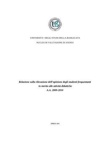 2009-2010 - Università degli Studi della Basilicata
