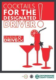 Mocktail recipes for the designated driver (pdf format, 600 KB)