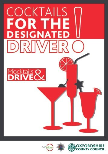 Mocktail recipes for the designated driver (pdf format, 600 KB)