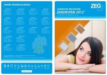 lagerliste KOlleKtiOn deKOrsPan 2012 + - ZEG Zentraleinkauf Holz ...