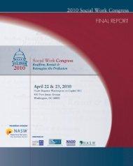 2010 Social Work Congress Final Report - National Association of ...
