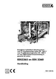 EDS3365 en EDS 3360 - Bender Benelux BV