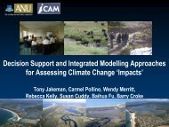 Decision Support approaches for assessing climate change impacts