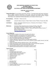 inter american university of puerto rico bayamon campus school of ...