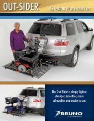 Downland the Curb-Sider Brochure - New Wheelchair Vans