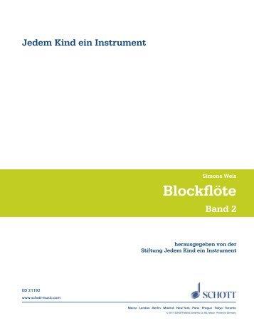 Beispielseiten JeKi Blockflöte Bd 2 ED 21192 - IfeM
