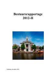 Tweede Bestuursrapportage 2012 - Gemeente Schiedam