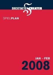 JAN – FEB SPIELPLAN - Societaetstheater
