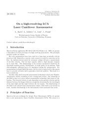 On a high-resolving LCA Laser Cantilever Anemometer