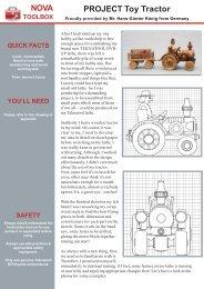 NOVA Toolbox Project Toy Tractor - Teknatool