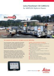 PaveSmart 3D for WIRTGEN Slipform Pavers - Flyer