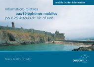Informations relatives aux téléphones mobiles ... - Isle of Man Today
