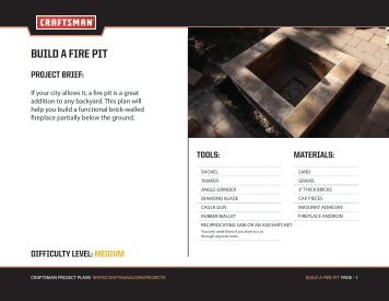 BUILD A FIRE PIT - Craftsman