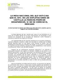 la mesa nacional del ajo vaticina que el 40% de las explotaciones ...