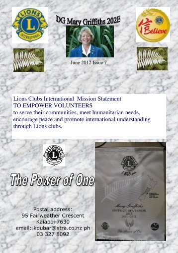 June 2012 - Lions Clubs New Zealand