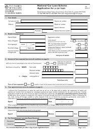 Car Loan Application (form S50) - Church of England