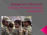 Jessica Santala's presentation on Female Suicide Bombers