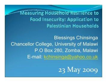 Presentation - Chinsinga - ERD