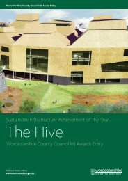 Worcestershire County Council - The MJ Awards