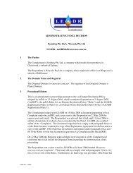 ADMINISTRATIVE PANEL DECISION Frenbray Pty Ltd v ... - auDA