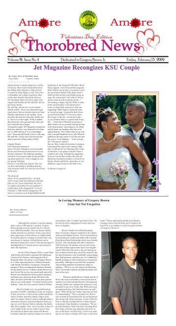 Jet Magazine Recongizes KSU Couple - Kentucky State University