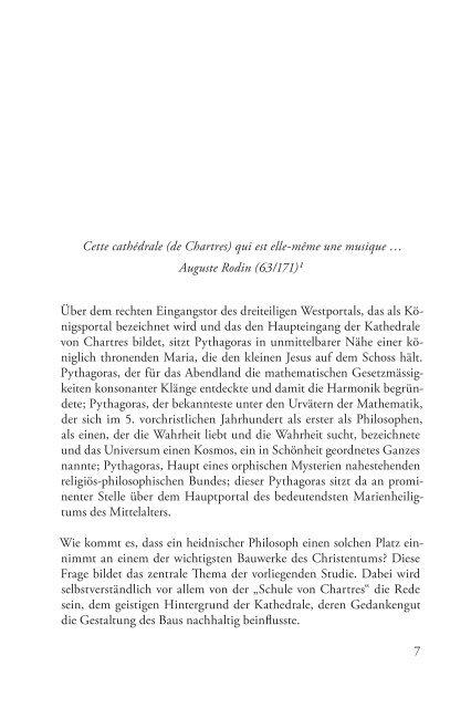 Leseprobe, Pythagoras und die Meister von Chatres - Synergia Verlag