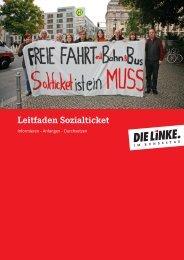 Leitfaden Sozialticket - Die Linke. im Bundestag