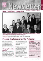 Newsletter April 2004.pdf - Society of Actuaries in Ireland